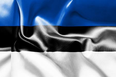 estonia: Estonia flag texture crumpled up
