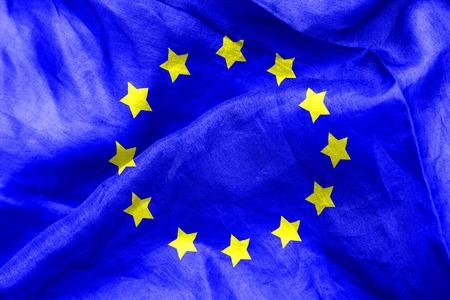 european: European flag texture crumpled