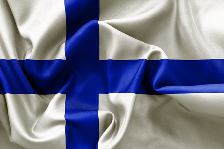 finland flag: Finland flag texture crumpled up