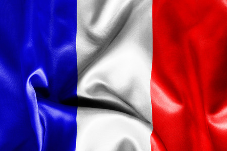 french flag: French flag texture creased and crumpled up with light and shadows