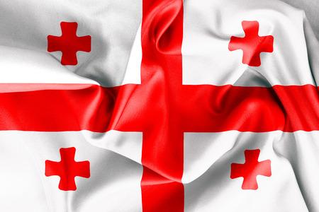 georgian: Georgian flag texture crumpled up