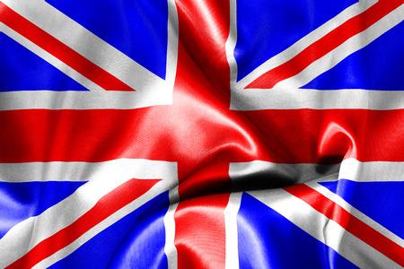 britain flag: Gran textura de la bandera de Gran Breta�a arrug�