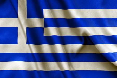 crease: Greece flag texture crumpled up
