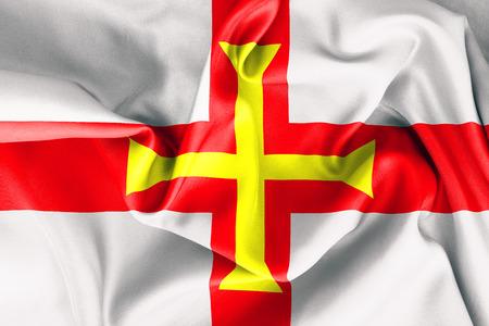 guernsey: Guernsey flag texture crumpled up