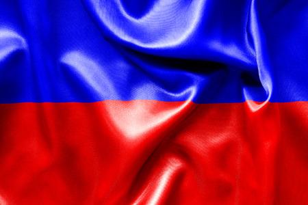 crease: Haiti flag texture crumpled up