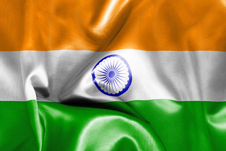 creased: Indian flag texture creased and crumpled up with light and shadows Stock Photo