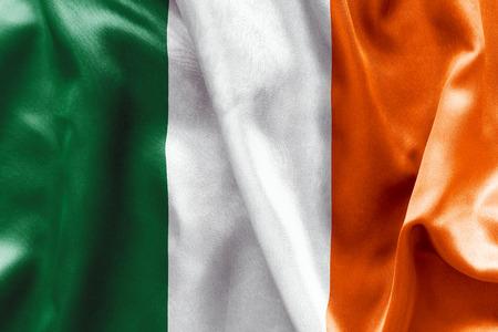 eire: Irish flag texture crumpled up