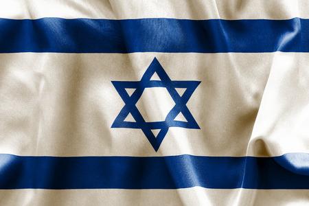 israeli flag: Israeli flag texture crumpled up