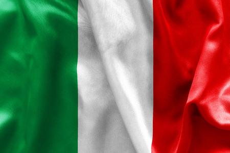 crease: Italian flag texture crumpled up Stock Photo
