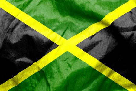 jamaican flag: Jamaican flag texture crumpled up
