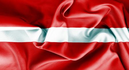 latvia flag: Latvia flag texture crumpled up