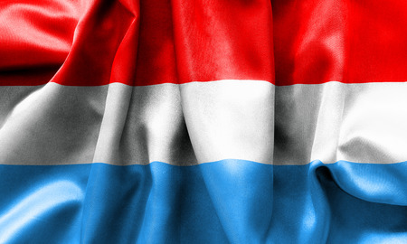 scrunch: Luxembourg flag texture crumpled up