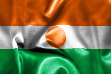 niger: Niger flag texture crumpled up