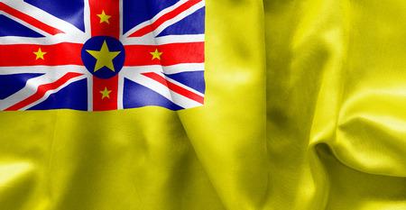 niue: Niue flag texture crumpled up