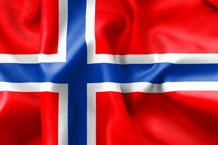 scrunch: Norway flag texture crumpled up Stock Photo