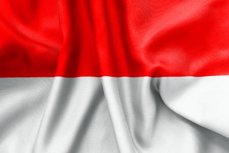 scrunch: Monaco flag texture crumpled up