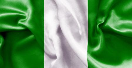 nigerian: Nigerian flag texture crumpled up