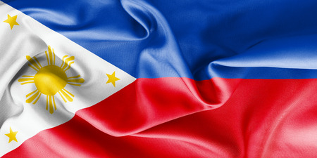scrunch: Philippines flag texture creased and crumpled up with light and shadows