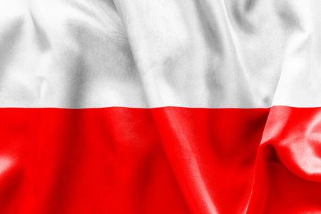 poland flag: Poland flag texture crumpled up Stock Photo