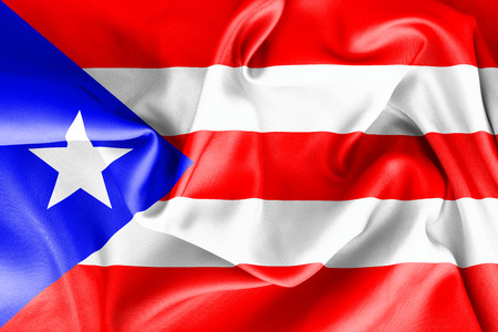 puerto rican flag: Puerto Rican flag texture crumpled up Stock Photo
