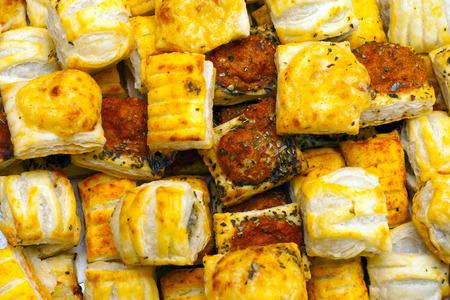 savoury: Savoury Pastry Buffet Selection of Mini Pastries Фото со стока
