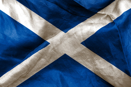 scottish flag: bandiera scozzese tessitura accartocciò