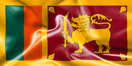 creased: Sri Lanka flag texture creased and crumpled up with light and shadows Stock Photo