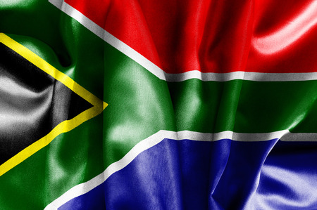suid: South Africa flag texture crumpled up