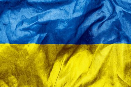 scrunch: Ukraine flag texture crumpled up