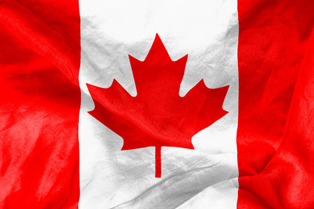 Canadian flag texture crumpled up