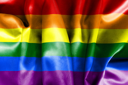 scrunch: Lesbian gay bisexual transgender LGBT flag texture crumpled up with light and shadows
