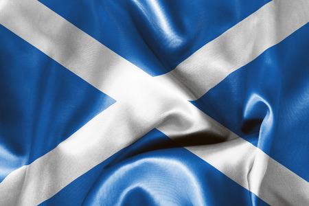 scottish flag: bandiera scozzese tessitura accartocciato con luci e ombre Archivio Fotografico