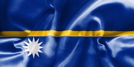 scrunch: Nauru flag texture creased and crumpled up with light and shadows