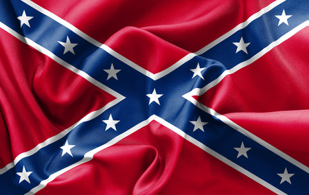scrunch: Confederate flag texture creased and crumpled up with light and shadows