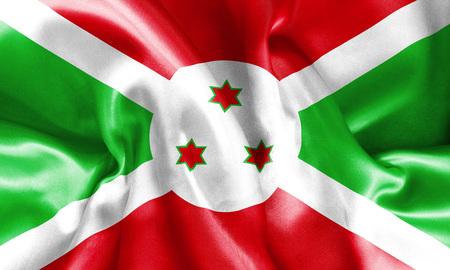 bandera blanca: Burundi bandera textura arrugada y arrugado con la luz y las sombras