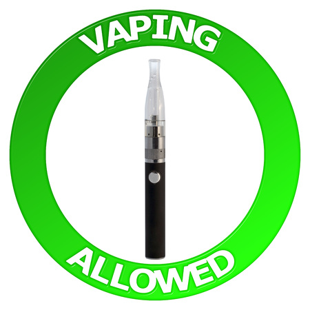 allowed: Vaping allowed sign with vaporizer