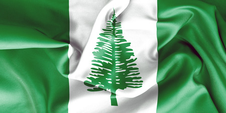 creased: Norfolk Island flag texture creased and crumpled up with light and shadows Stock Photo
