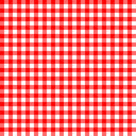speckle: Gingham Classic Style Red and White Seemless Pattern With Speckled Effect