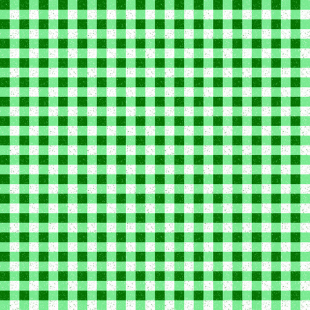 speckle: Gingham Classic Style Green and White Seamless Pattern With Speckled Effect