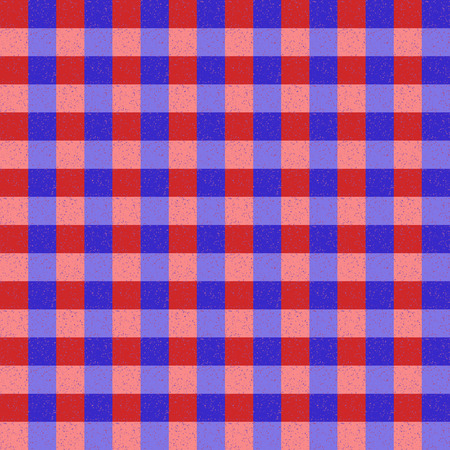 speckle: Red Blue and Pink Seamless Check Pattern With Speckle Effect