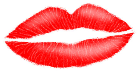 luscious: Lipstick red luscious and seductive female lips with textured effect