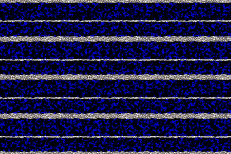 wobbly: Silver metal uneven horizontal stripes 3D illustration against a dark blue and black plasma seamless background Stock Photo
