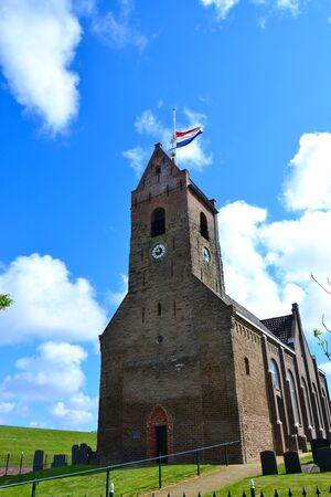 Small church in a little village called Wierum, Friesland The Netherlands