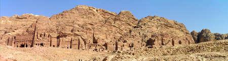 Palace, Corinthian, Silk and Urn Royal Tombs at Petra, Jordan.