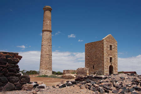 Hughes Engine House and Chimney, Moonta Mines, South Australia