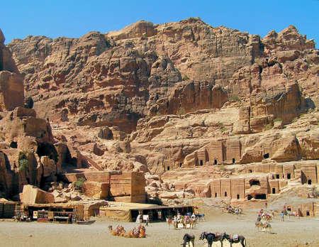 Bedouin markets at Petra, Jordan Stock Photo