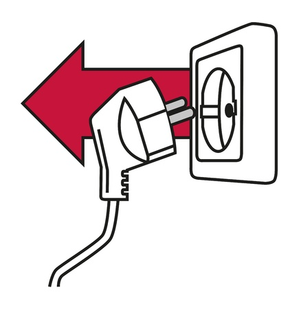 Save Electricity Vector