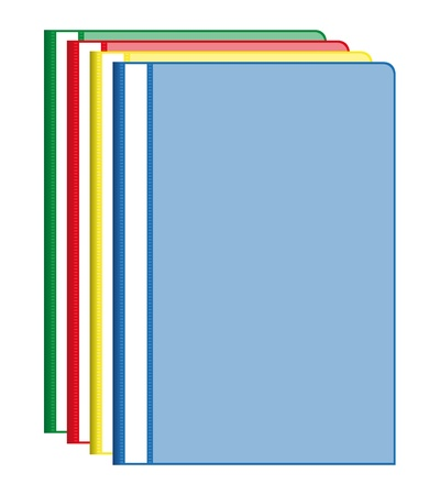 Colorful office folders Vector