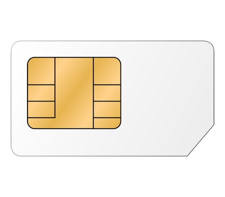 prepaid card: Sim card Illustration