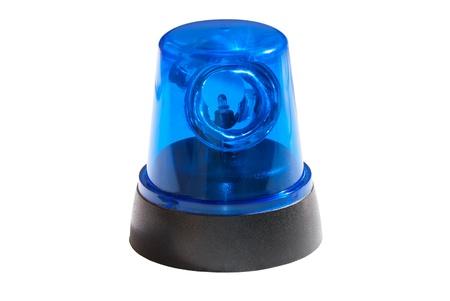 Blue light isolated on white background Stock Photo - 15266510